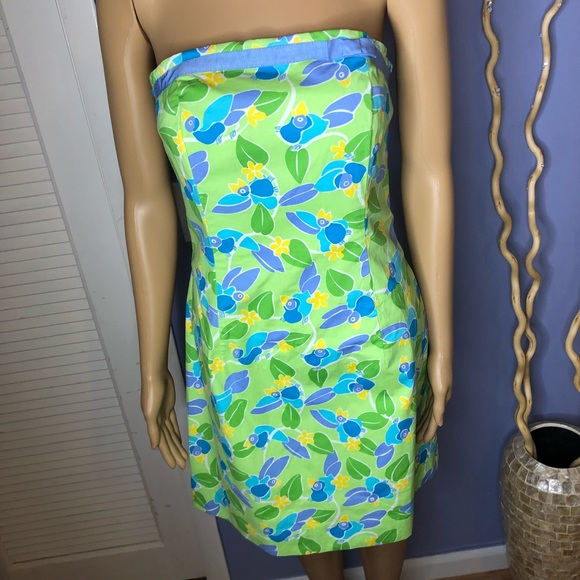 Lilly Pulitzer Dresses & Skirts - Lilly Pulitzer strapless dress too jays print, sz8
